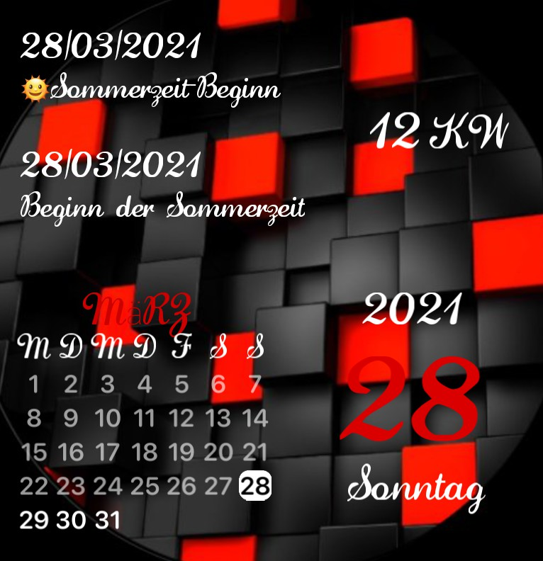 Kalender Red Black
