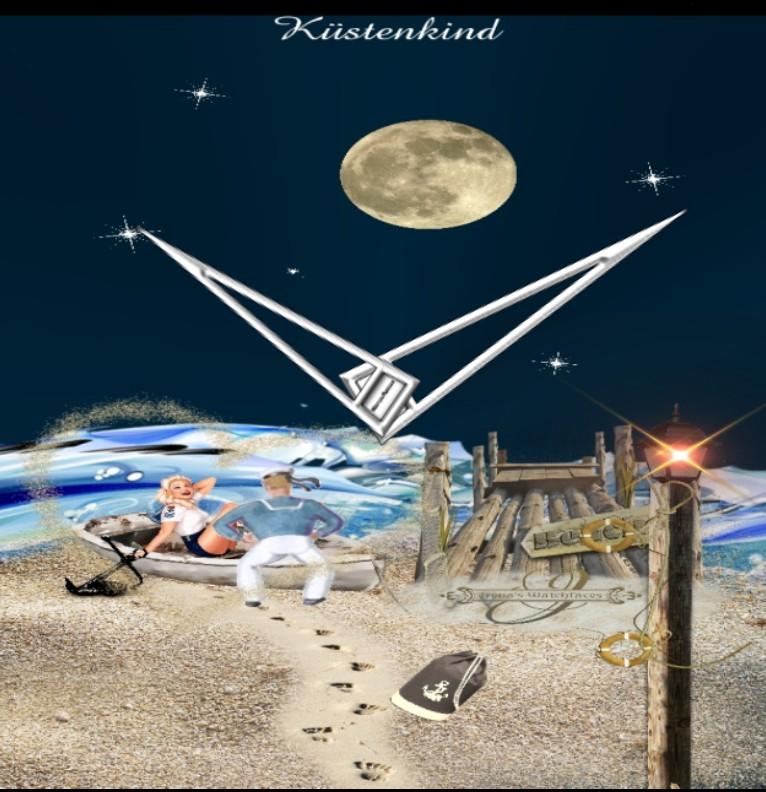 Clock Kuestenkind 18 Nacht