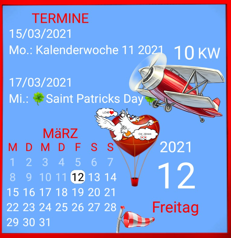 Kalender gross Loveairline