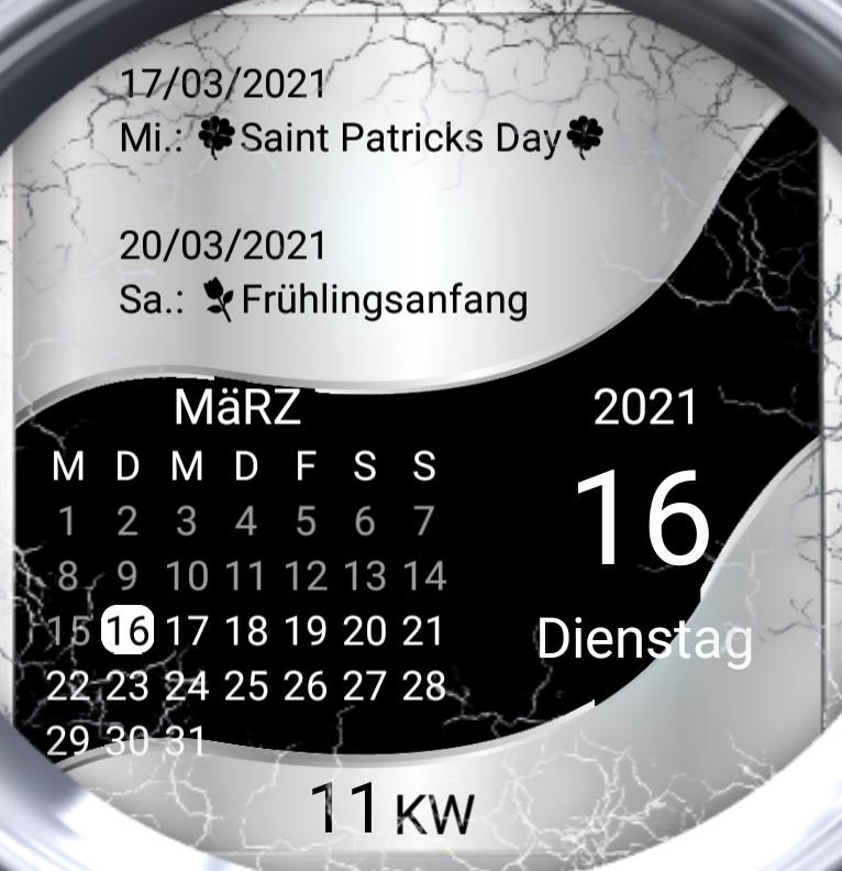Kalender gross Serie Welle Spieluhr