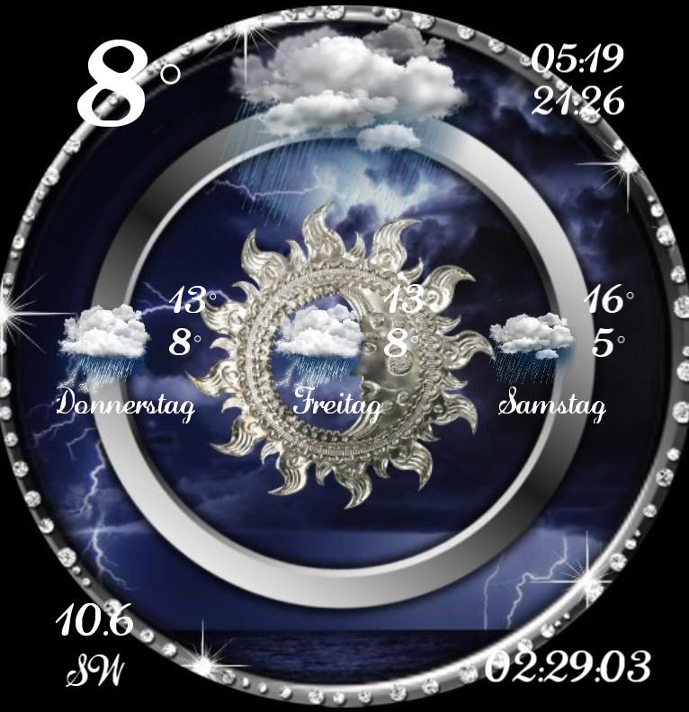Widget Wetter Diamanten Mond