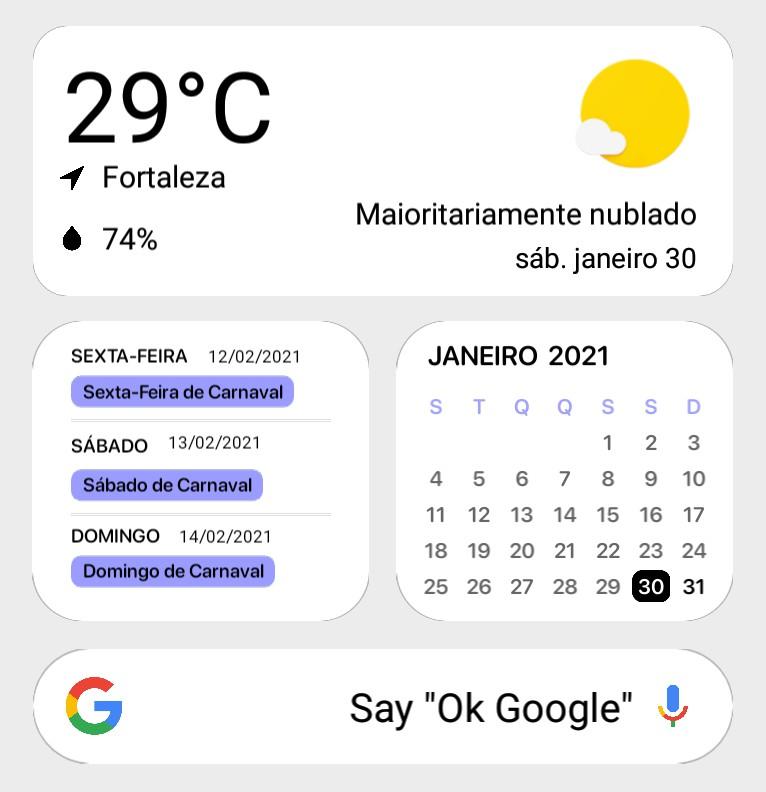 Search Bar Google + Weather