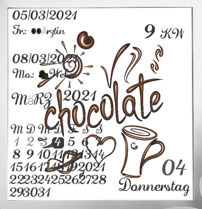 Kalender  Chocolate