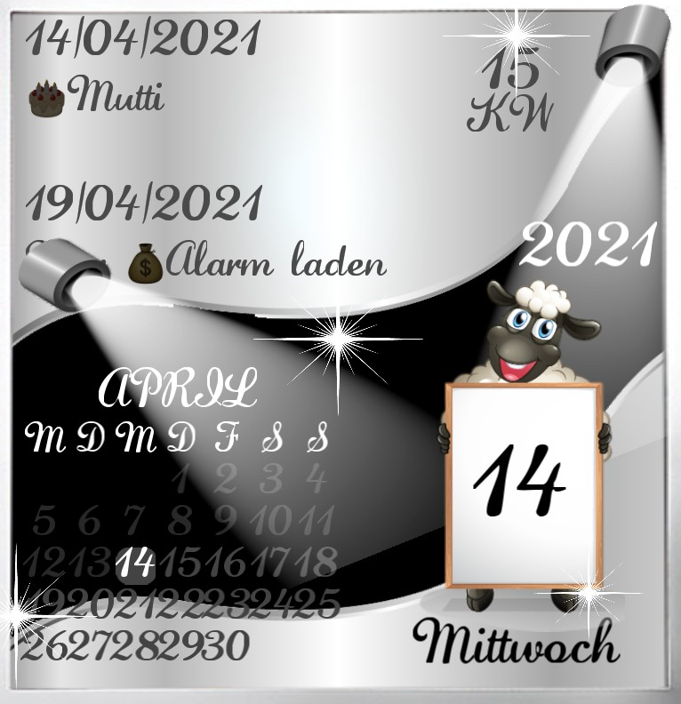 Kalender Diamond Black Sheep