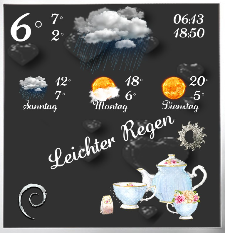 Widget Wetter Tea Time
