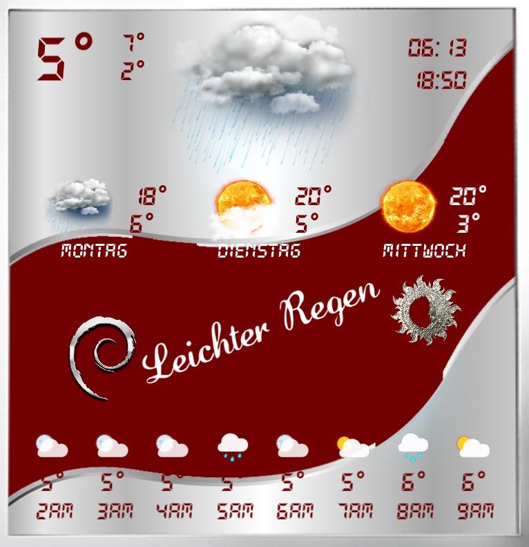 Widget Wetter Design 1458