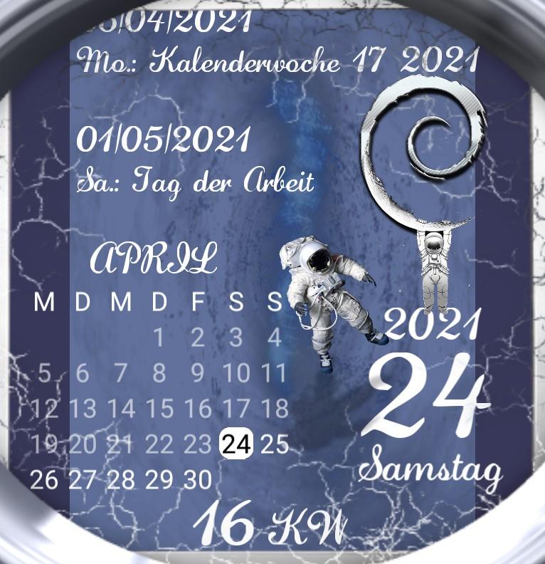Kalender gross Astronaut