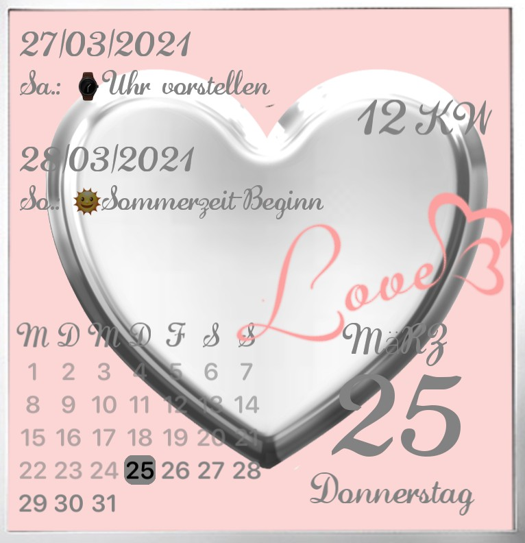 Kalender Love my Phone