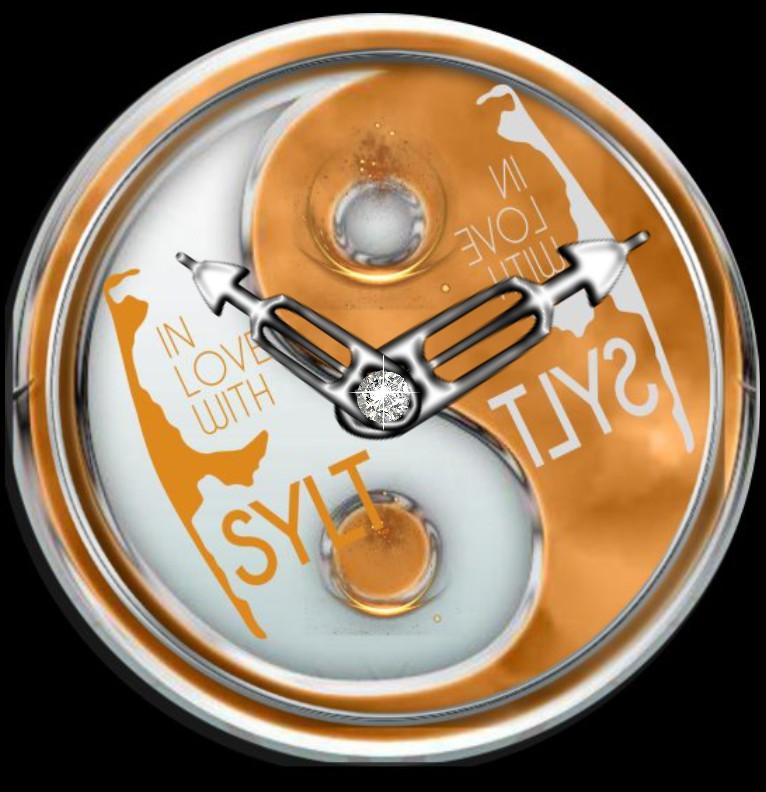 Clock Sylter Yin Yang