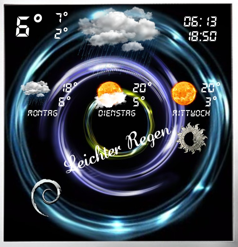 Widget Wetter Design Serie 1462