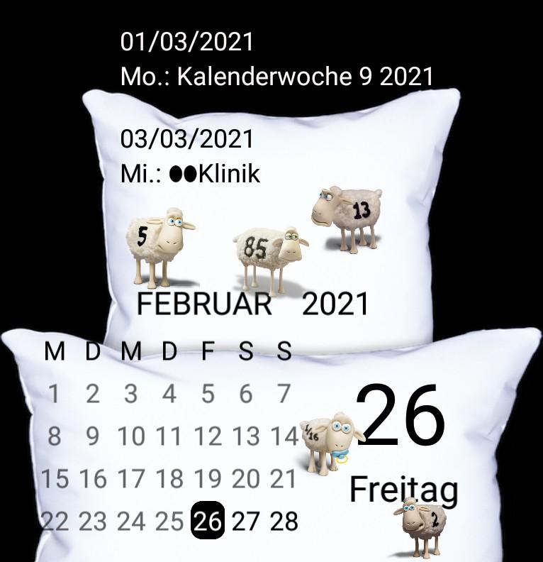 Kalender Mond Gute Nacht