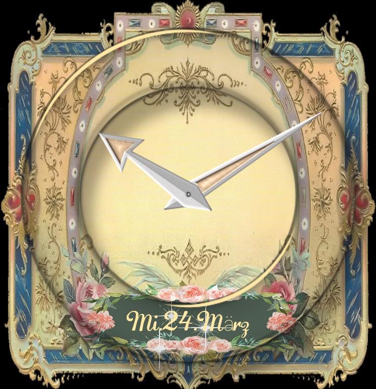 Clock Vintage Rose