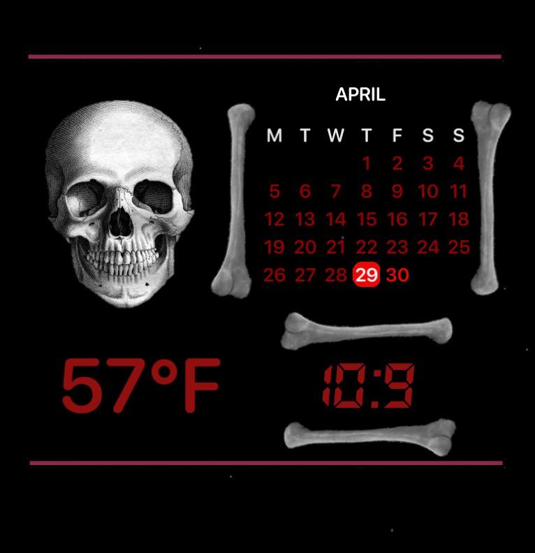 Skull Time, Temp, and Calendar