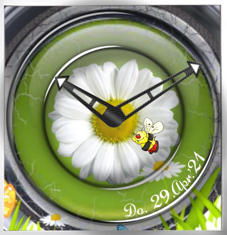 Clock Flower Time