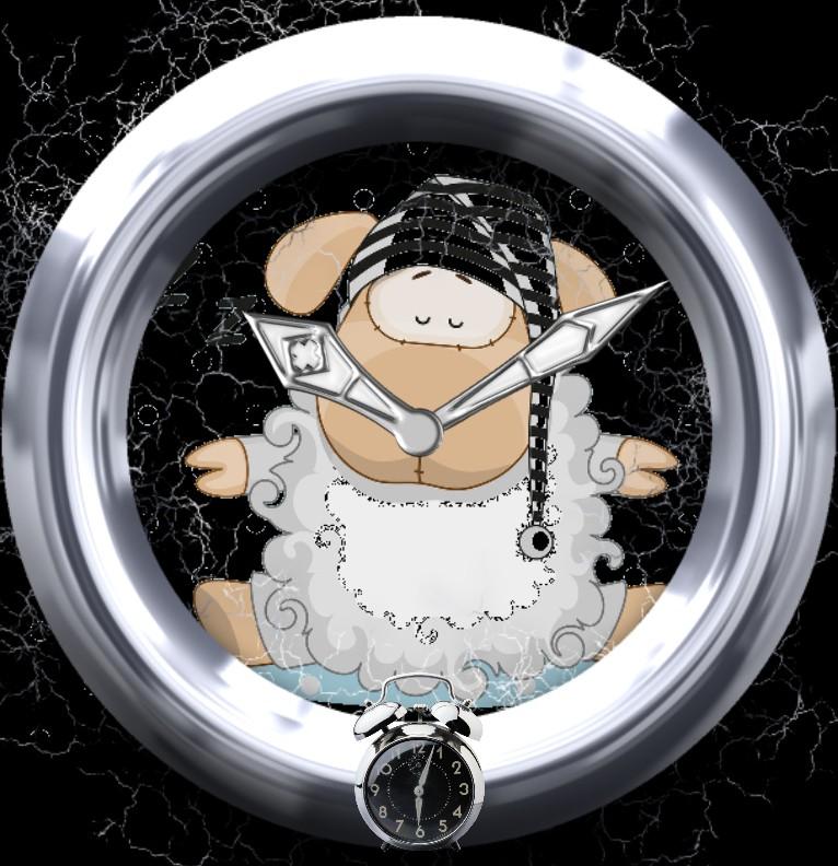 Clock Sleep Sheep