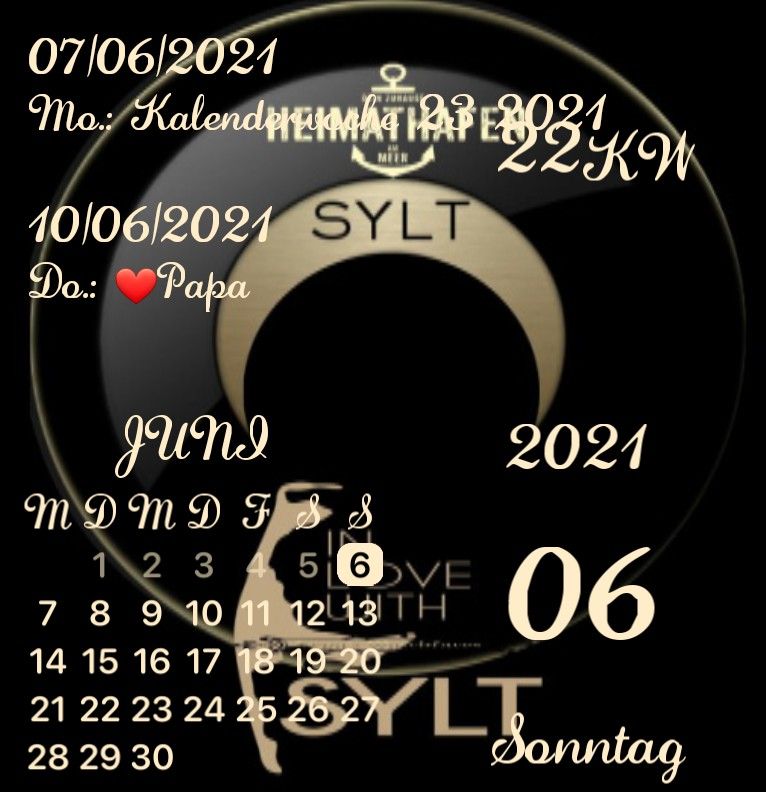 Kalender Sylt Tide