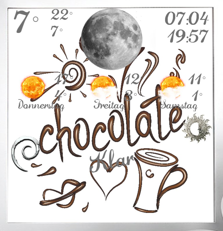 Widget Wetter Chocolate