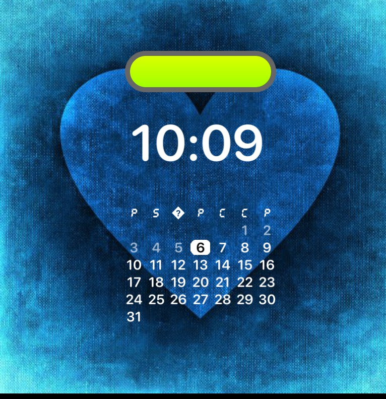 blue heart panel
