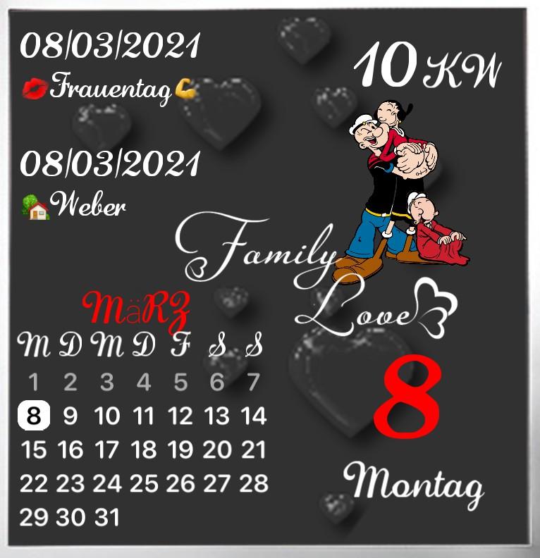Kalender gross Serie Popeye Familie