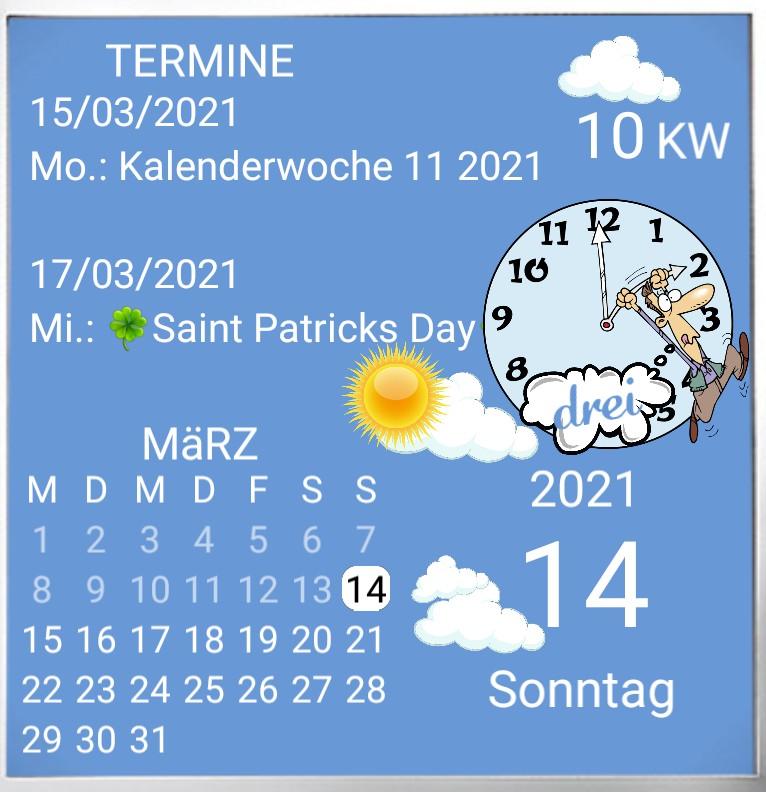 Kalender gross Summertime