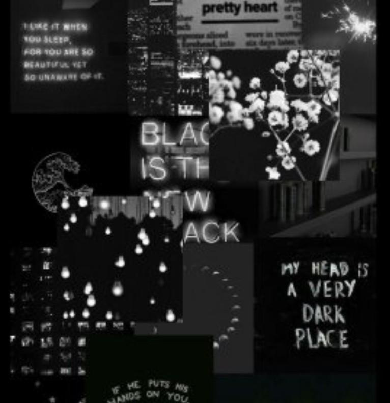 baddie black collage