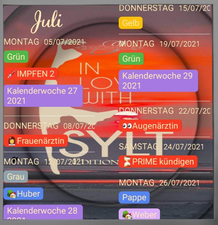 Termine  Sylt Edition 2021