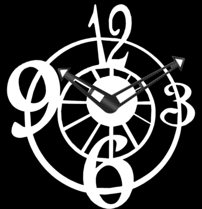Clock Black and White