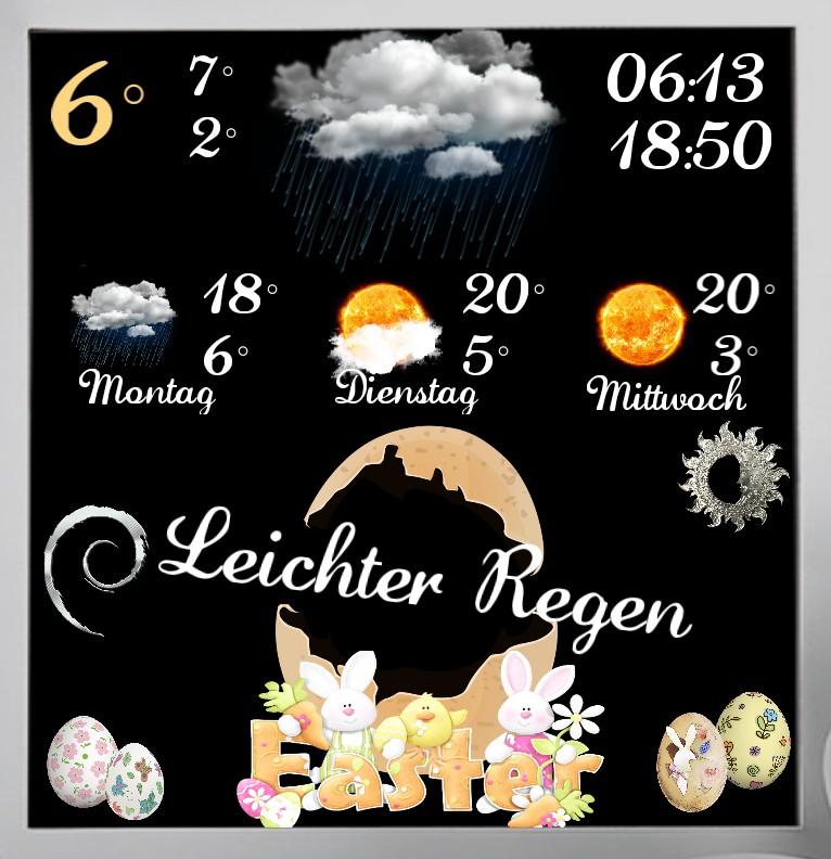 Widget Wetter Easter Natur
