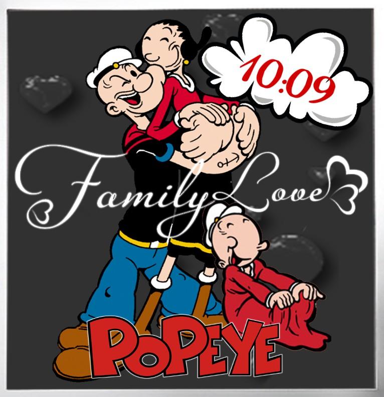 Clock Popeye Familie
