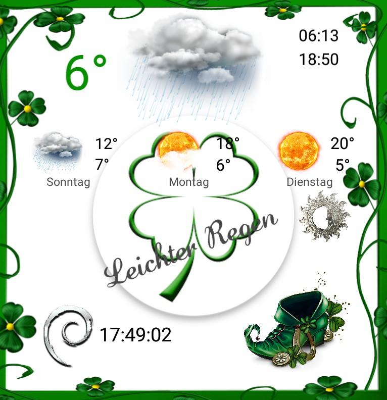 Widget Wetter Saint Patricks Day