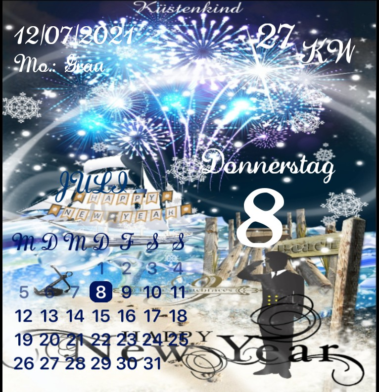 Kalender Kuestenkind 20 Silvester New Year Nacht