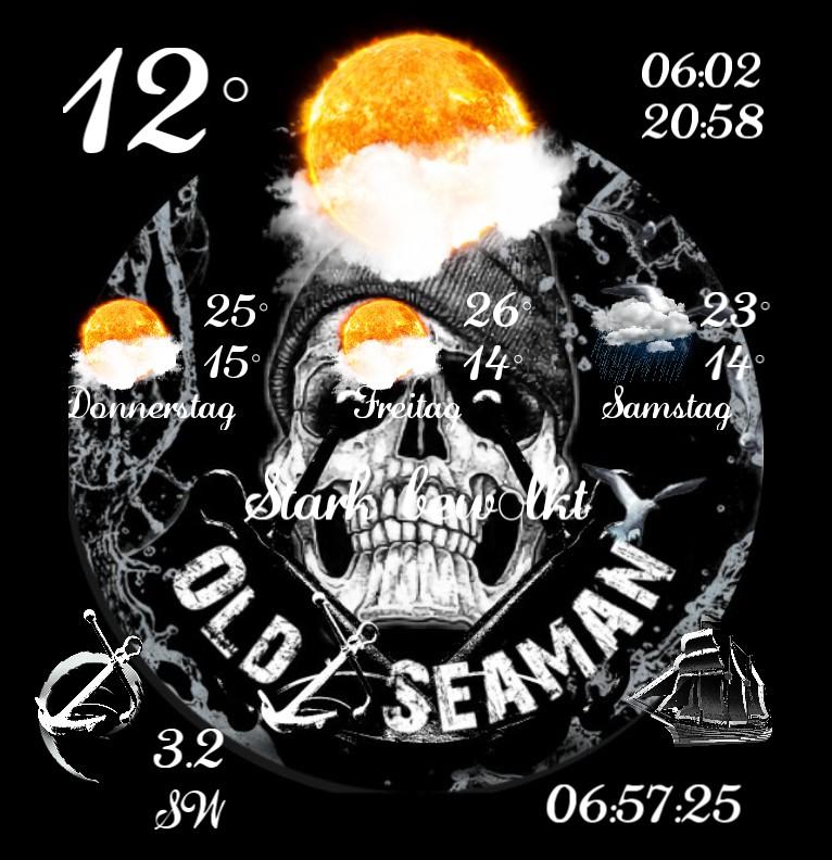 Widget Wetter Old Seaman Skull