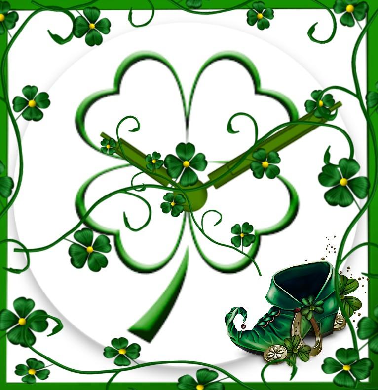 Clock Saint Patricks Day
