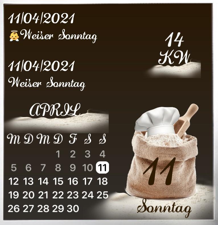 Kalender Mehl Baecker