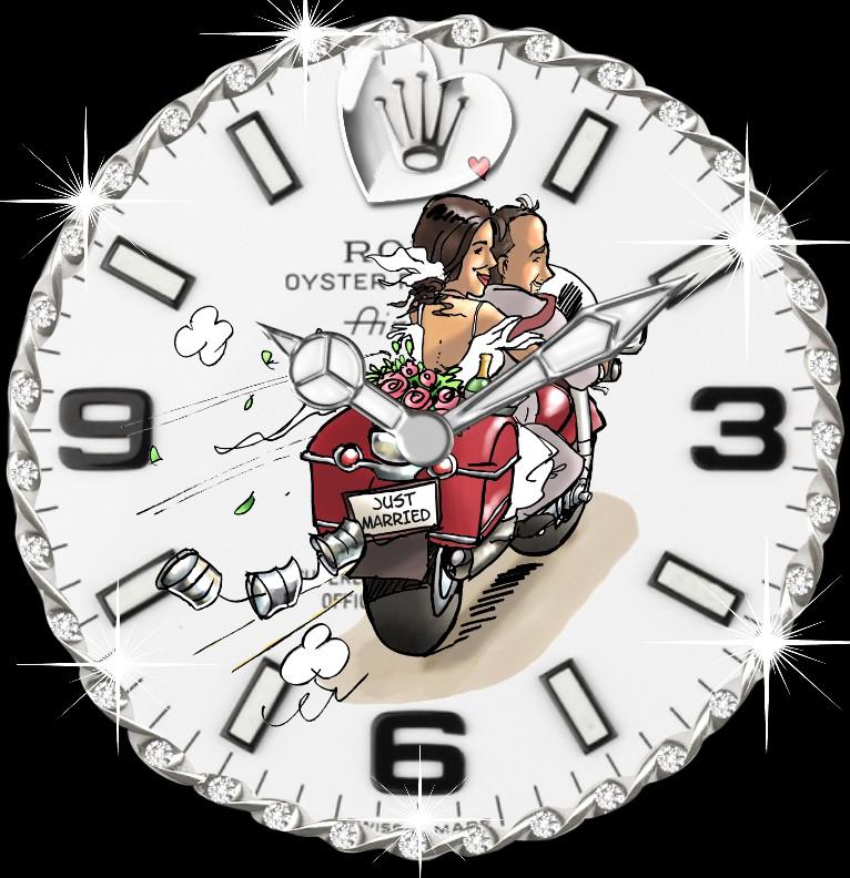 Clock R...x Hochzeitstag  Bike tranz
