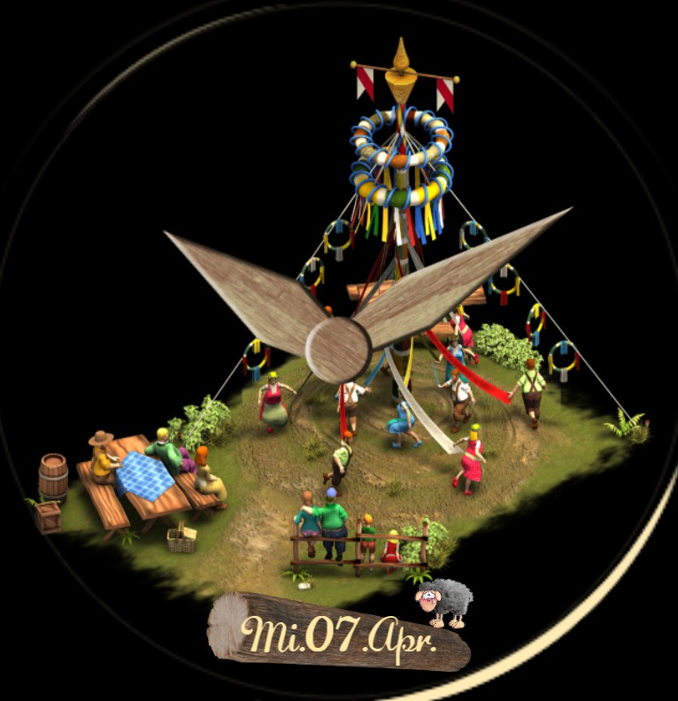 Clock Tanz in den Mai