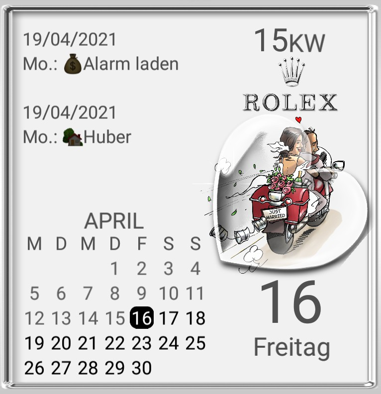 R...x Kalender Hochzeitstag  Bike