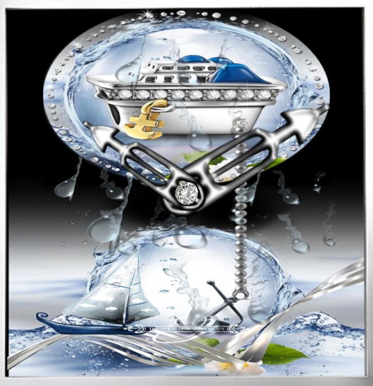 Clock  Diamanten Schiff