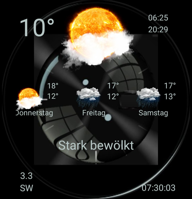 Widget Wetter Design 1489
