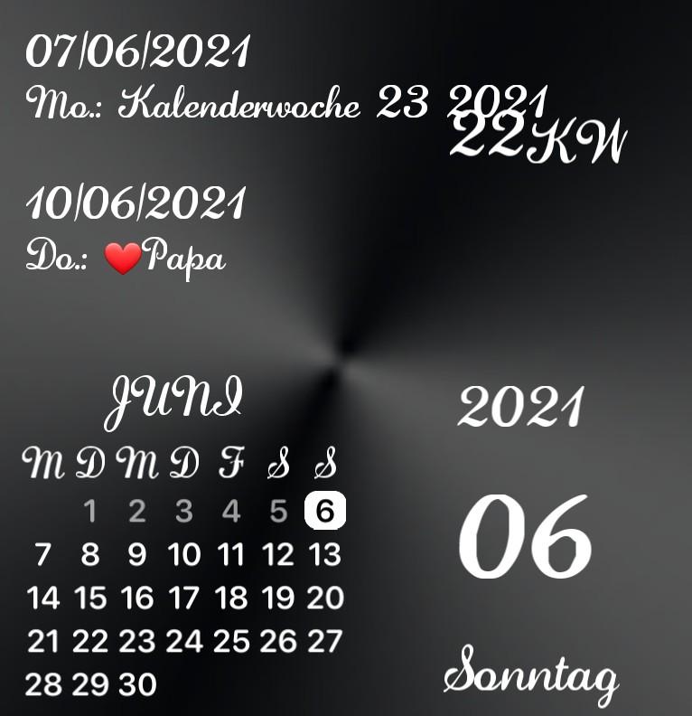 Kalender Black and White