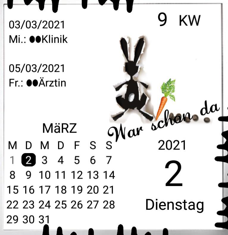 Kalender gross Serie Ostern Ende