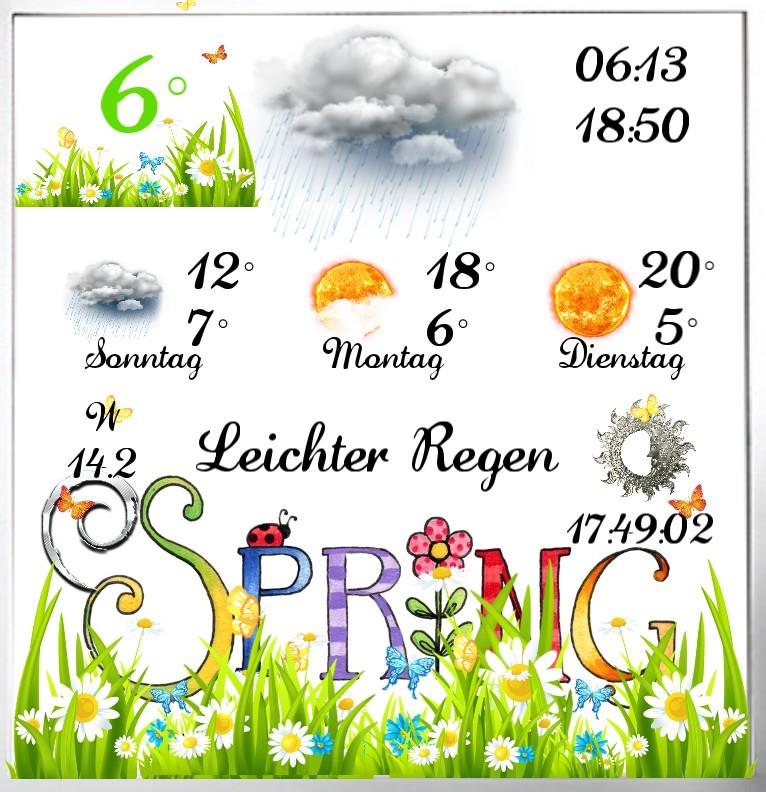 Widget Wetter Spring 1