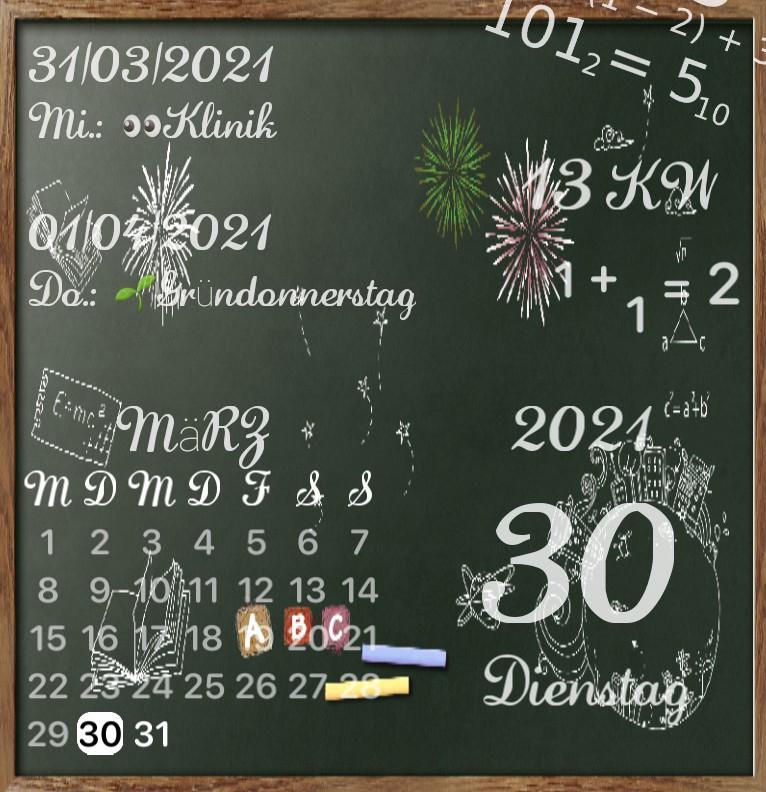 Kalender Kreidetafel  1