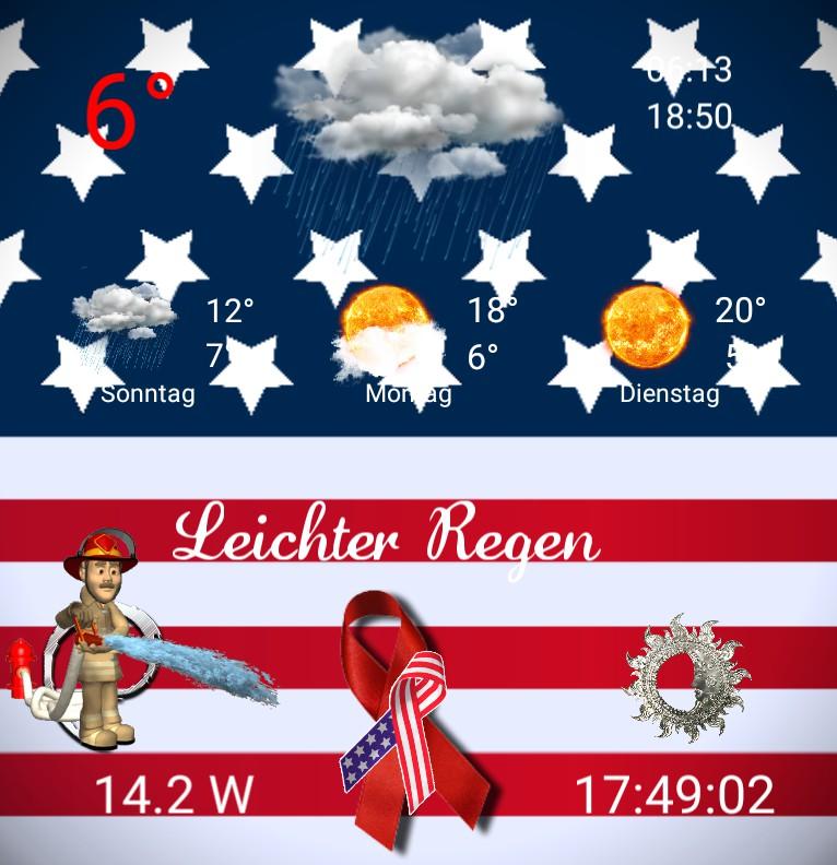 Widget Wetter Amerika never forget