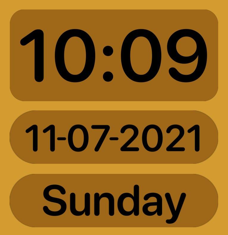 Digital Clock + Date + Day
