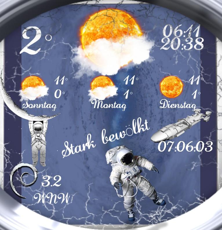 Widget Wetter Astronaut