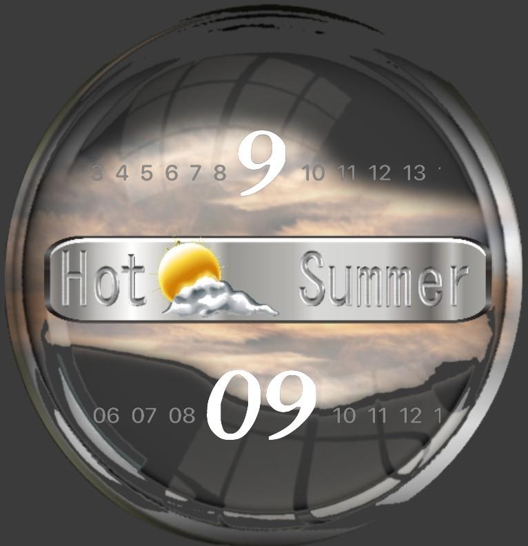 Clock Hot Summer