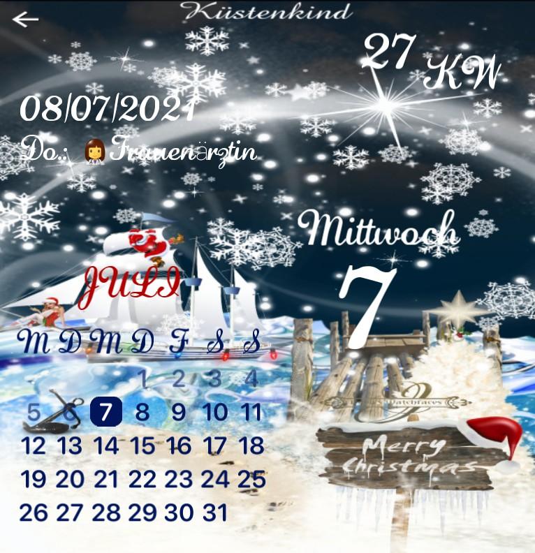 Kalender Kuestenkind 20 Weihnachten Nacht