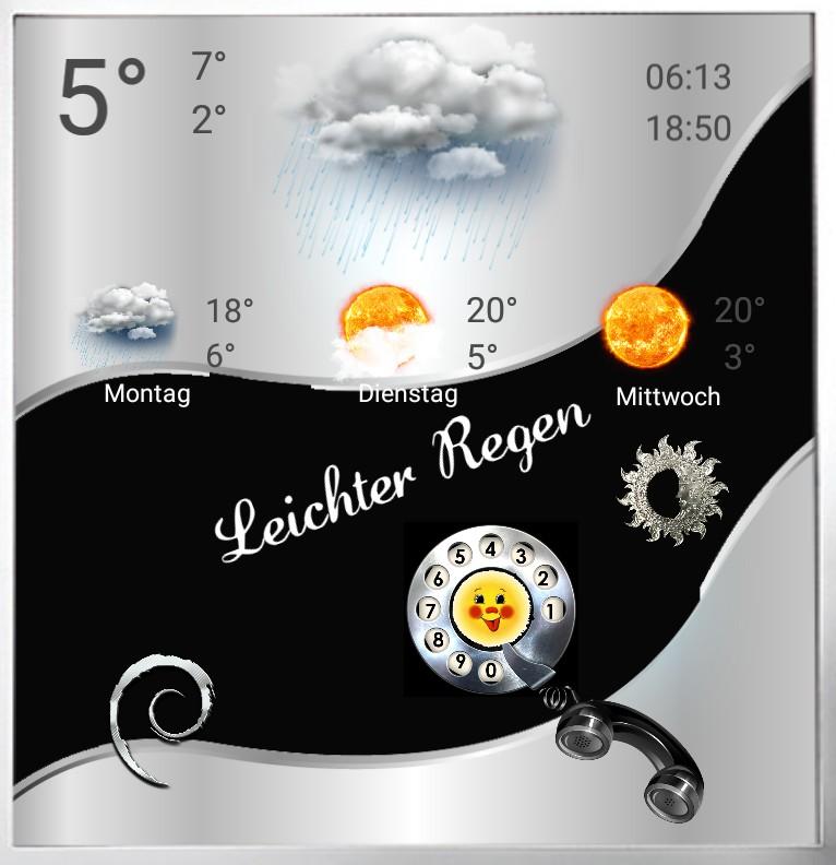 Widget Wetter Telefon
