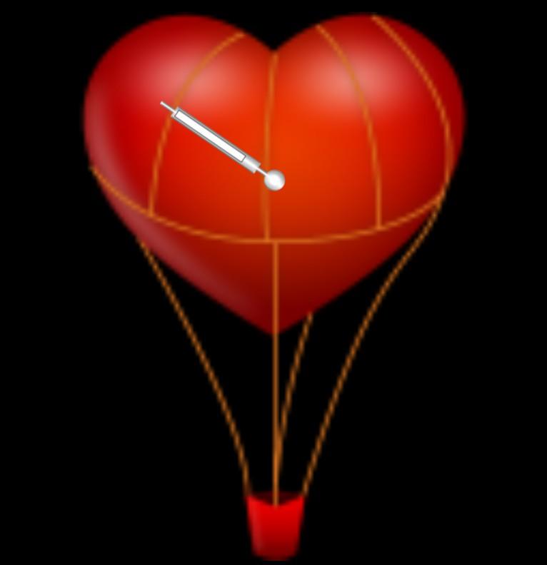Clock Loveairline  STUNDE